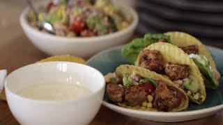 Pork Tacos And Mexican Salad With Flora Pro-activ