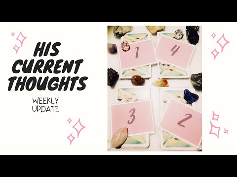 His current thoughts | 🙈😜 |Tarot and Oracle Reading