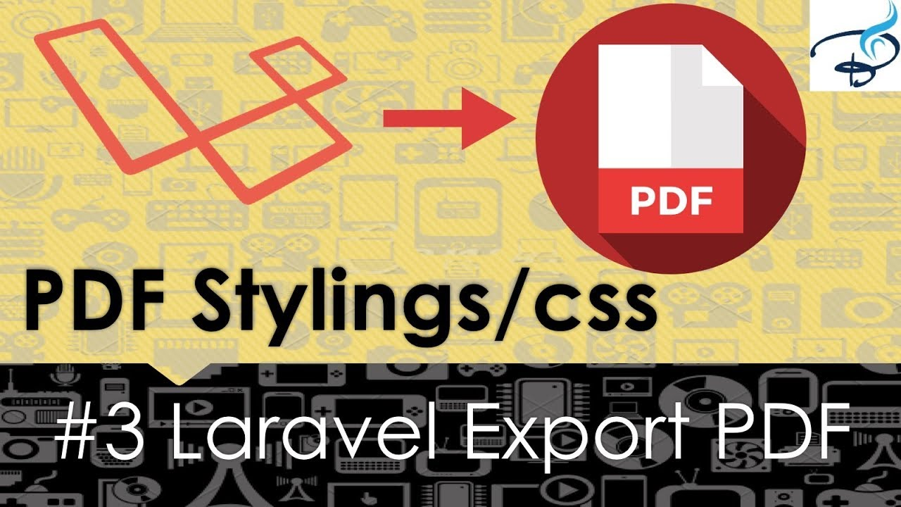 Laravel Export to PDF | Give Styles to PDF file #3
