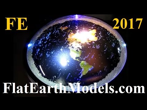 3D Flat Earth model with rotating firmament stars by Chris Pontius - June 2017 ✅ thumbnail