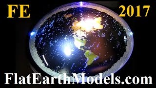 3D Flat Earth model with rotating firmament stars by Chris Pontius - June 2017 ✅