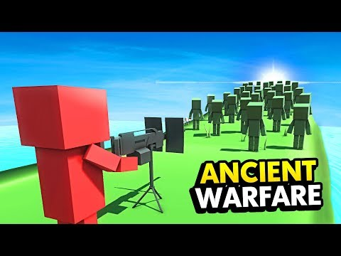 NEW MACHINE GUN vs TONS OF ZOMBIES IN ANCIENT WARFARE 3 (Ancient Warfare 3 Funny Gameplay)