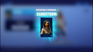 NEW FORTNITE SKINS- Sandstorm & Scimitar !! (READ DESC)