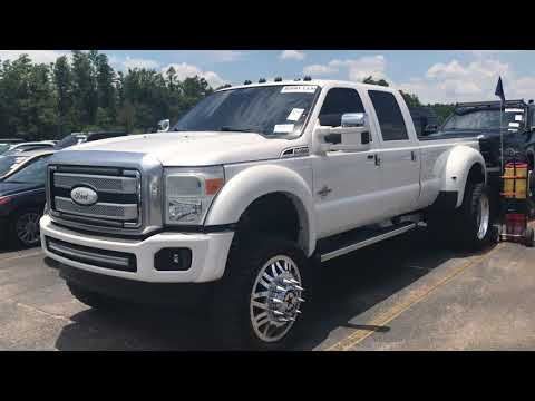 2015 Ford f450 lifted 6 inches Fabtech , dirt logic coil-overs 24 inch American forces