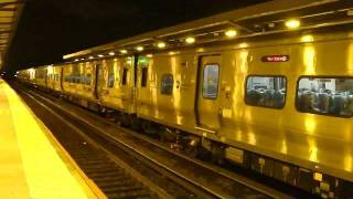 MTA LIRR: Bombardier M-7 LIRR Trains at Woodside Station