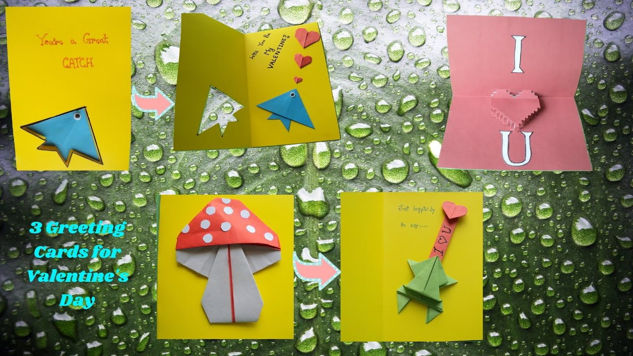 card making with origami arts for valentine's day  youtube