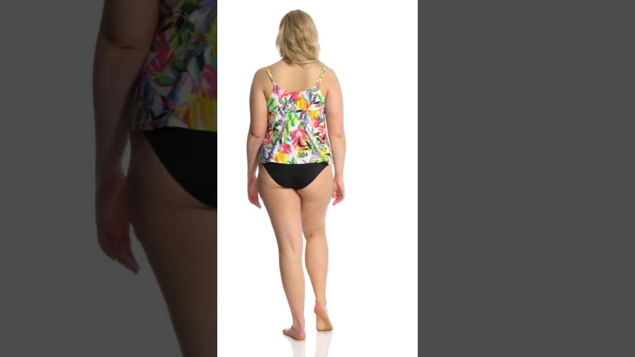 d0cd06139a9ea 24th   Ocean Plus Size Sayulita Sunset Adjustable Side Tankini Top ...