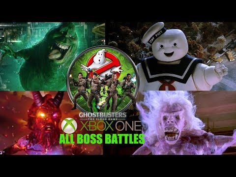 GHOSTBUSTERS THE VIDEO GAME - ALL BOSS FIGHTS (Xbox One Backwards Compatible)