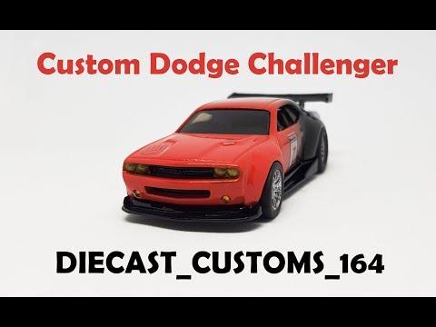 Custom Dodge Challenger Wide Body Kit - Hot Wheels