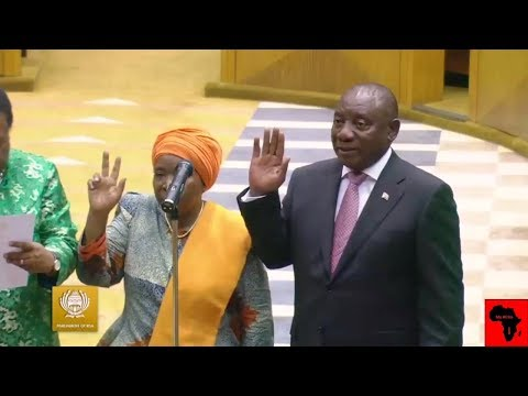 Cyril Ramaphosa And ANC Sworn In 6th Parliament