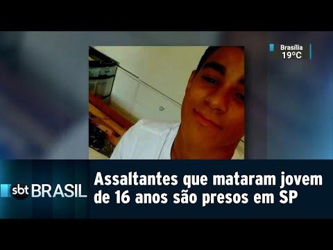Assaltantes que mataram jovem de 16 anos são presos em SP | SBT Brasil (16/08/18)