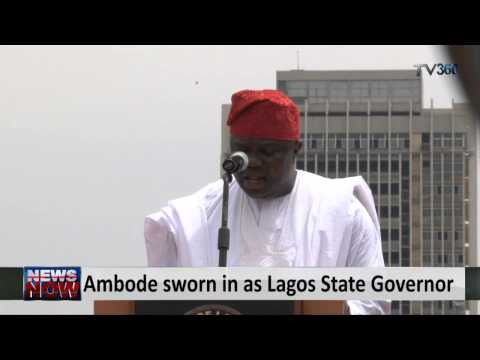 Ambode sworn in as Lagos State Governor