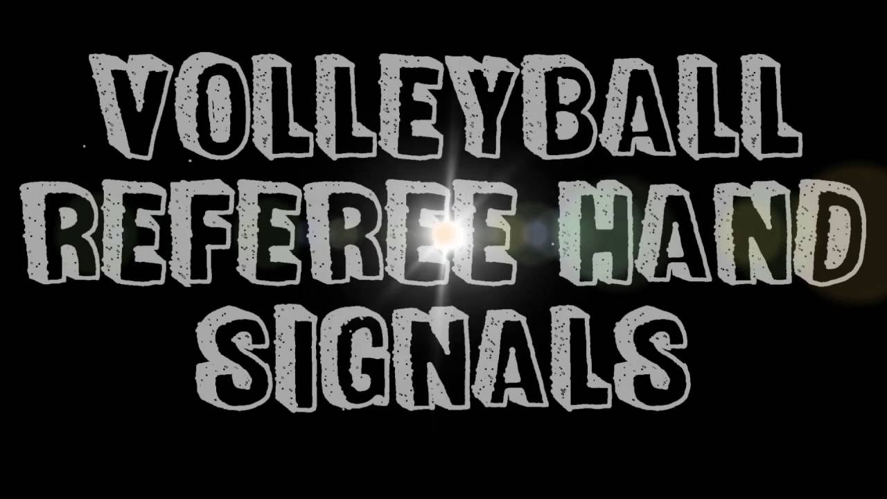 VOLLEYBALL REFEREE HAND SIGNALS - YouTube