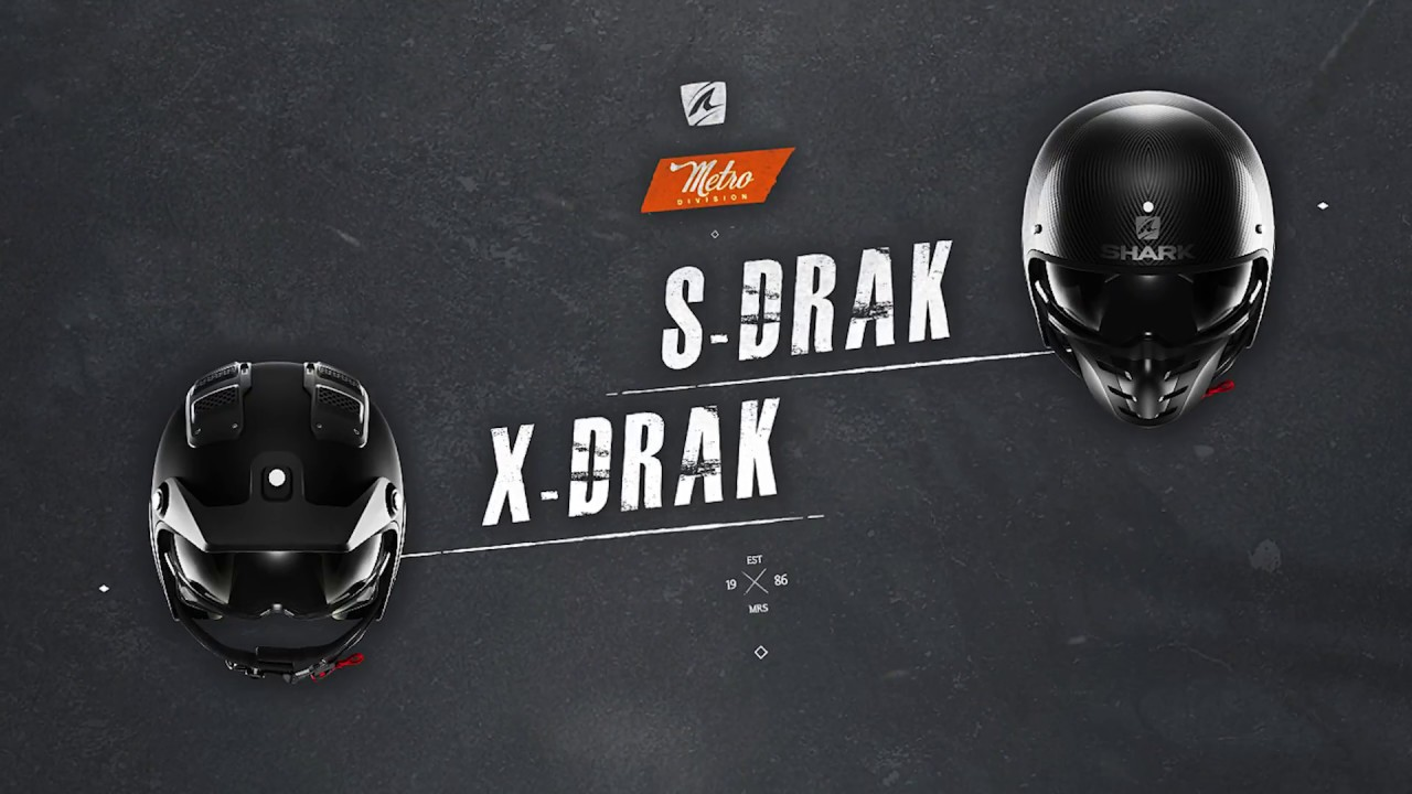 84b31ba7 S-DRAK & X-DRAK by SHARK Helmets - YouTube