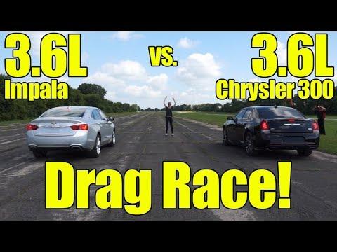 Chevrolet Impala 3.6L vs Chrysler 300 3.6L Drag Race!