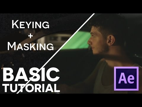 KEYING GREEN SCREEN, MASKING, and EFFECTS - After Effects Basic Tutorial