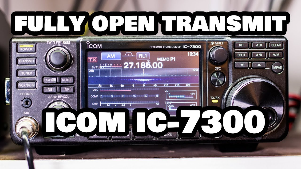 All Band Transmit Modification Icom IC-7300 Full Explanation w/ Test at End!