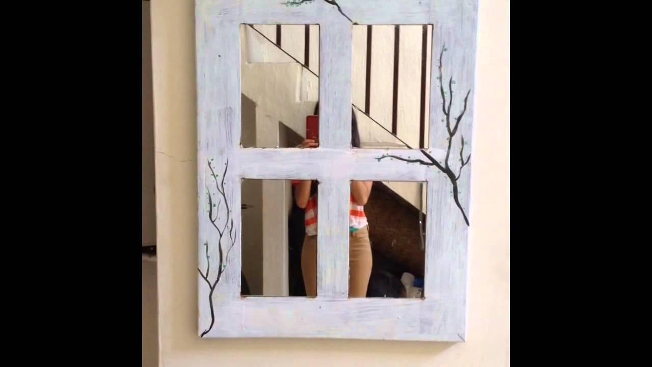 DIY reciclando una ventana a un espejo. AnimaciónDI. - YouTube