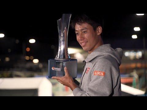 Kei Nishikori is the men's champion