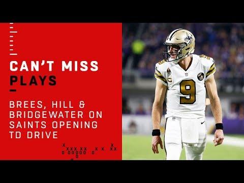 Triple QB Threat w/ Brees, Hill & Bridgewater on Saints Opening TD Drive!