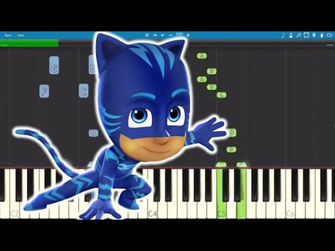 PJ Masks Song - The Bravest Cat - Piano Tutorial