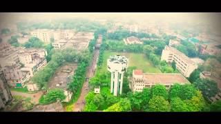 Aerial view of Dhaka University of Engineering & Technology, Gazipur (DUET) captured b ...