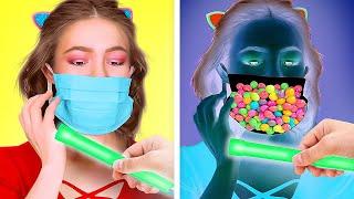 حيل رائعة لتهريب أنواع الحلوى! || السبيل لإخفاء الأطعمة