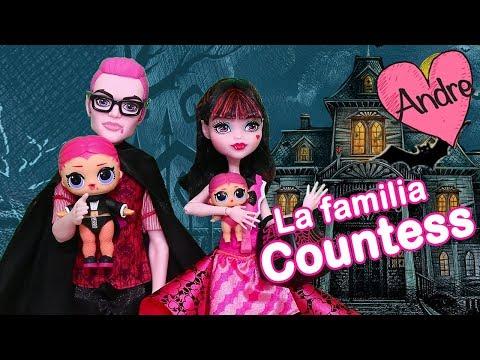 La familia LOL Countess prepara una fiesta   Muñecas y juguetes con Andre para niñas y niños