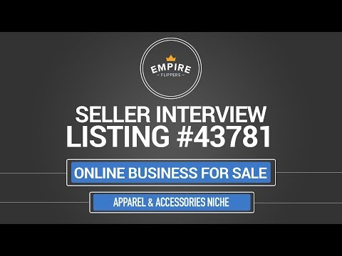 Online Business For Sale - $11.7K/month in the Apparel & Accessories Niche