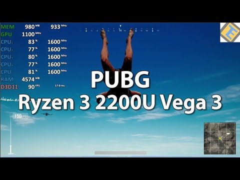 AMD Ryzen 3 2200U Vega 3 Review - PUBG - Gameplay Benchmark Test  Ext  Throttling Test