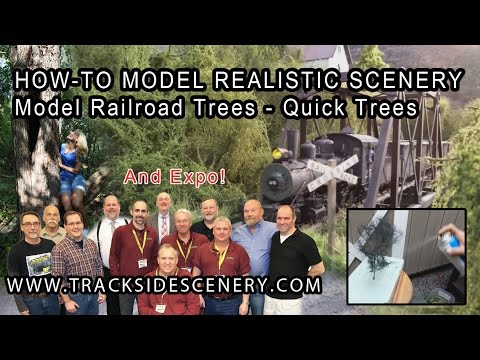 How-to Make Realistic Model Railroad Scenery – Quick Trees!