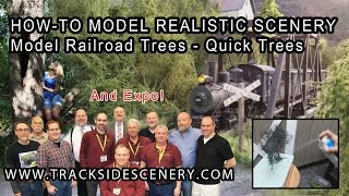 How-to Make Realistic Model Railroad Scenery - Quick Trees!
