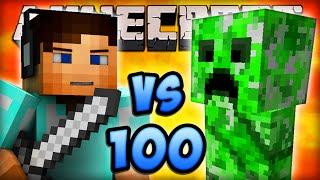 Minecraft MOB BATTLE (1 VS 100) - LIVE w/ Ali-A #1! - (Minecraft Mob Arena Fight)