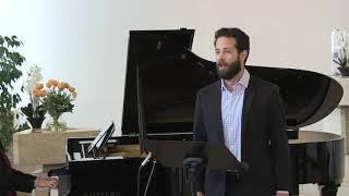 """""""Aus alten Märchen"""" aus Dichterliebe - Schumann #SHEA OWENS, bariton, #CLAIRE PASQUIER, Fazioli 278"""
