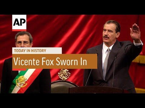 Vicente Fox Sworn In - 2000 | Today in History | 1 Dec 16