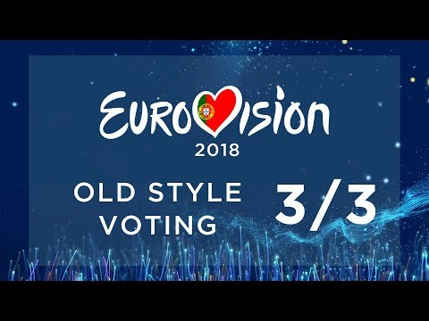 EUROVISION 2018 // OLD STYLE VOTING PT. 3/3