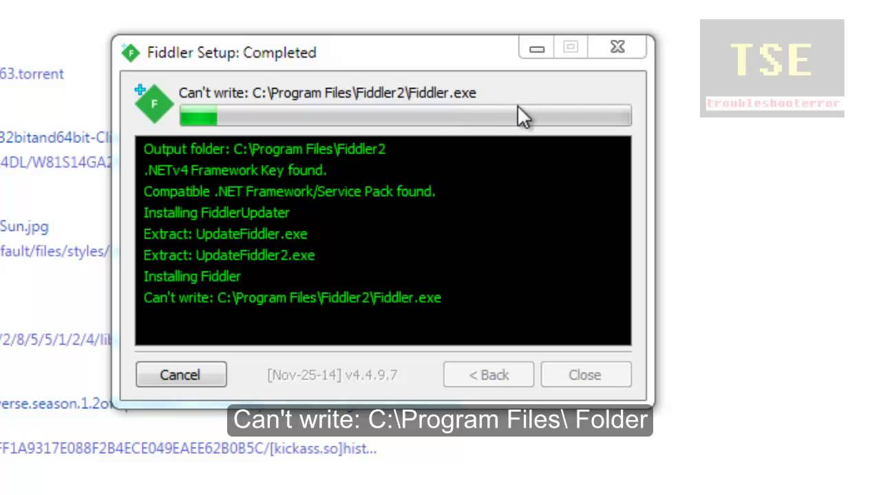 How to fix Can't write to C:\Program Files in Windows 7