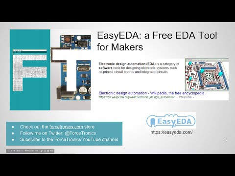 EasyEDA: a Free EDA Tool for Makers