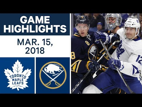 NHL Game Highlights | Maple Leafs vs. Sabres - Mar. 15, 2018