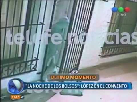 Una de las monjas le ayudó a José López a ingresar los bolsos con dinero al convento