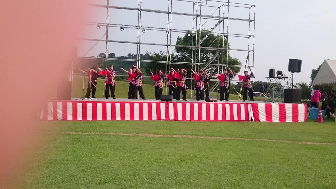 """""""踴蘭華威""""(おどらんかい)天水夏祭り演舞披露 2 - YouTube"""