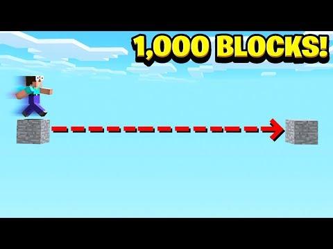 WORLDS BIGGEST MINECRAFT JUMP! (1,000 BLOCKS)
