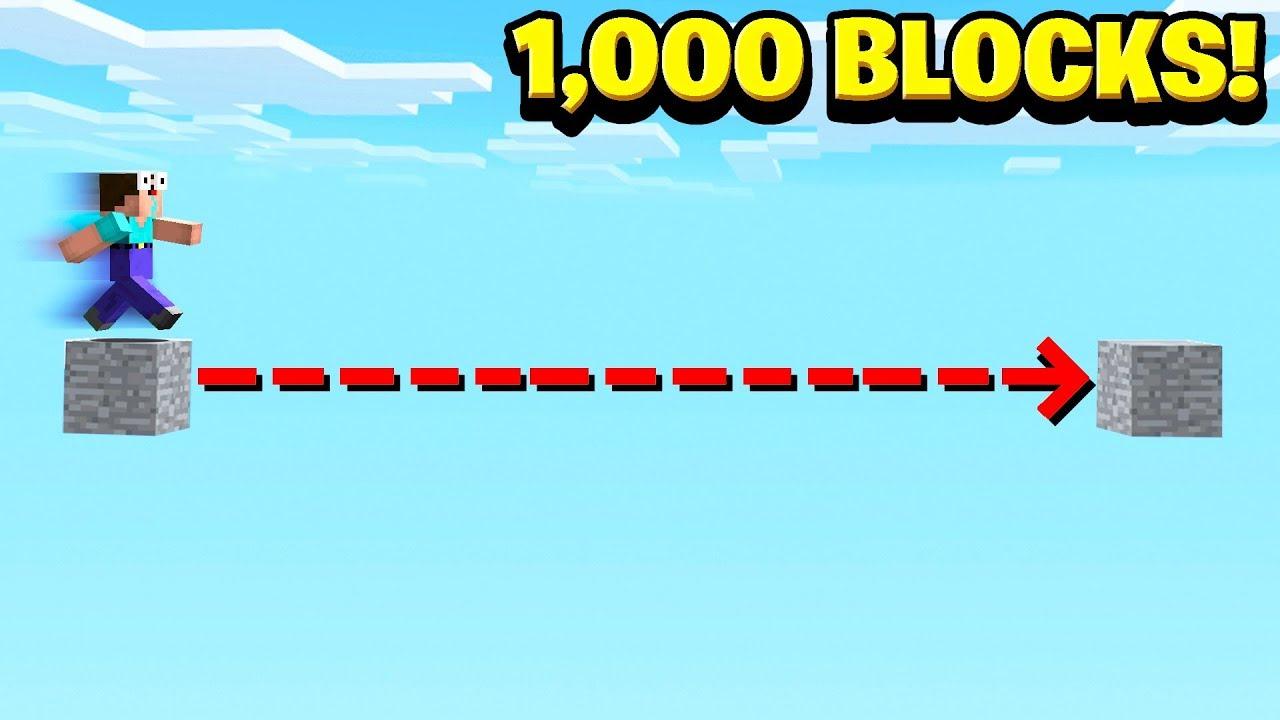 WORLD'S BIGGEST MINECRAFT JUMP! (1,000 BLOCKS)