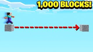 WORLD'S BIGGEST MINECRAFT JUMP! (1,000 BLOCKS)