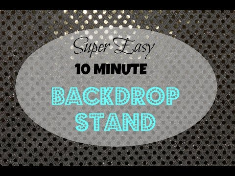 DIY 10 Minute Backdrop Stand || Budget Friendly