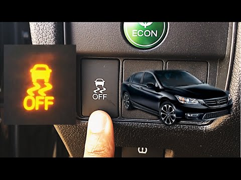 HOW TO USE TRACTION CONTROL 9th GEN HONDA ACCORD YouTube