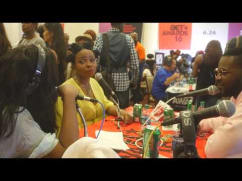 Veda Loca talks w/ Yemi Alade and Falz live from the BET Awards 2016 Radio Room