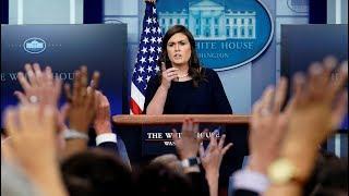 Sarah Sanders threatens to end briefing amid transgender ban questions
