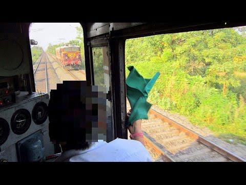 FINAL PART ! INDIAN RAILWAY LOCOMOTIVE CAB VIEW ! INSIDE LOCOMOTIVE