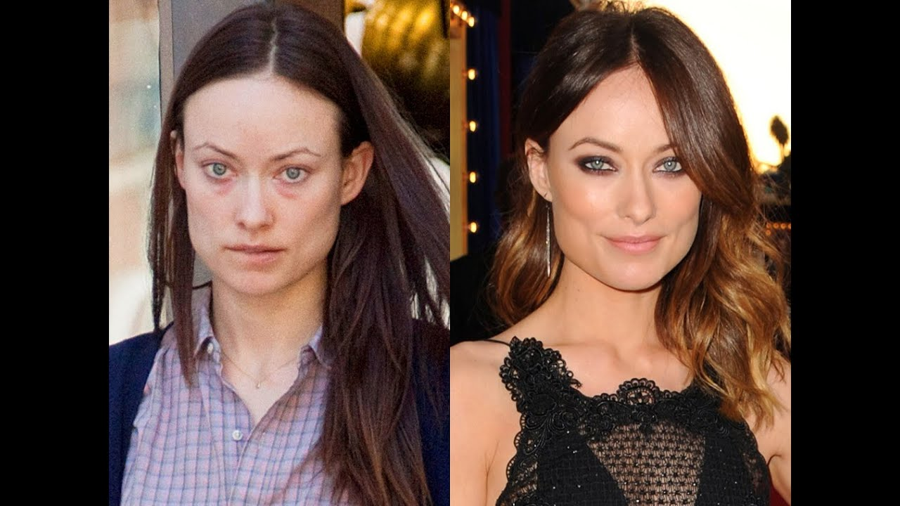 makeup miracles - celebrities without makeup - before and after comparison